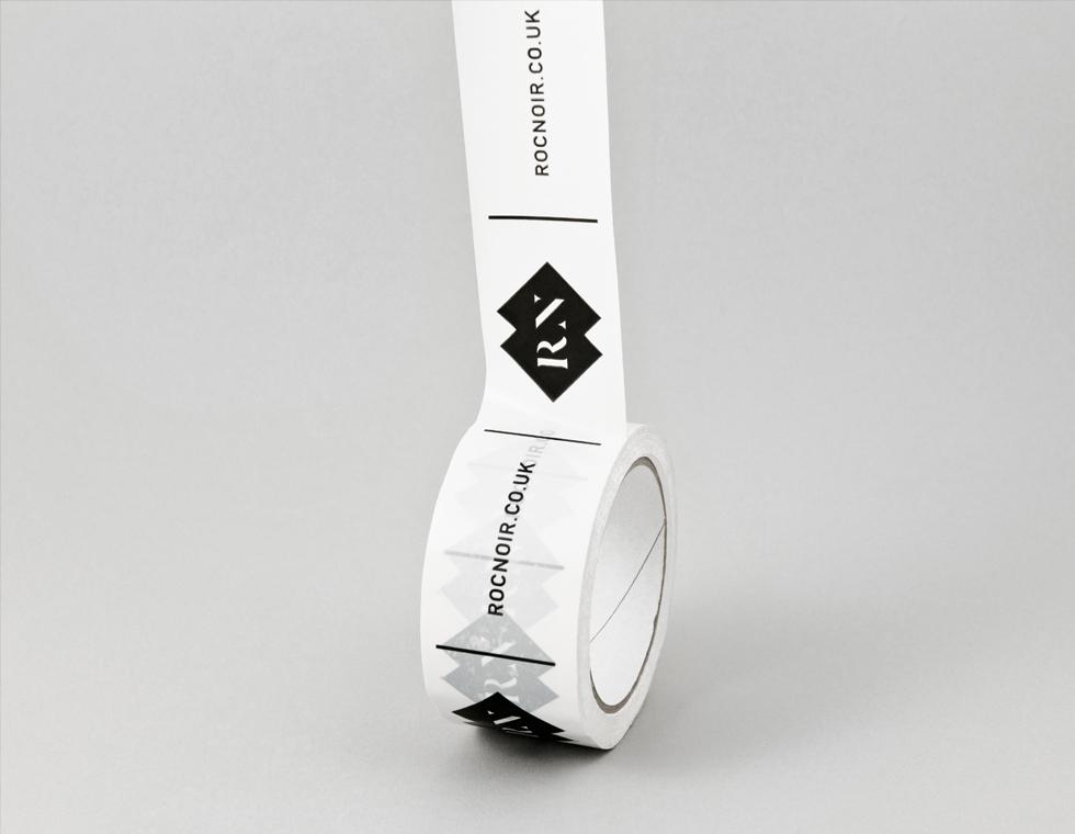 Roc Noir printed parcel tape