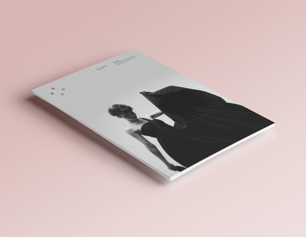 StudioRoRo printed identity collateral