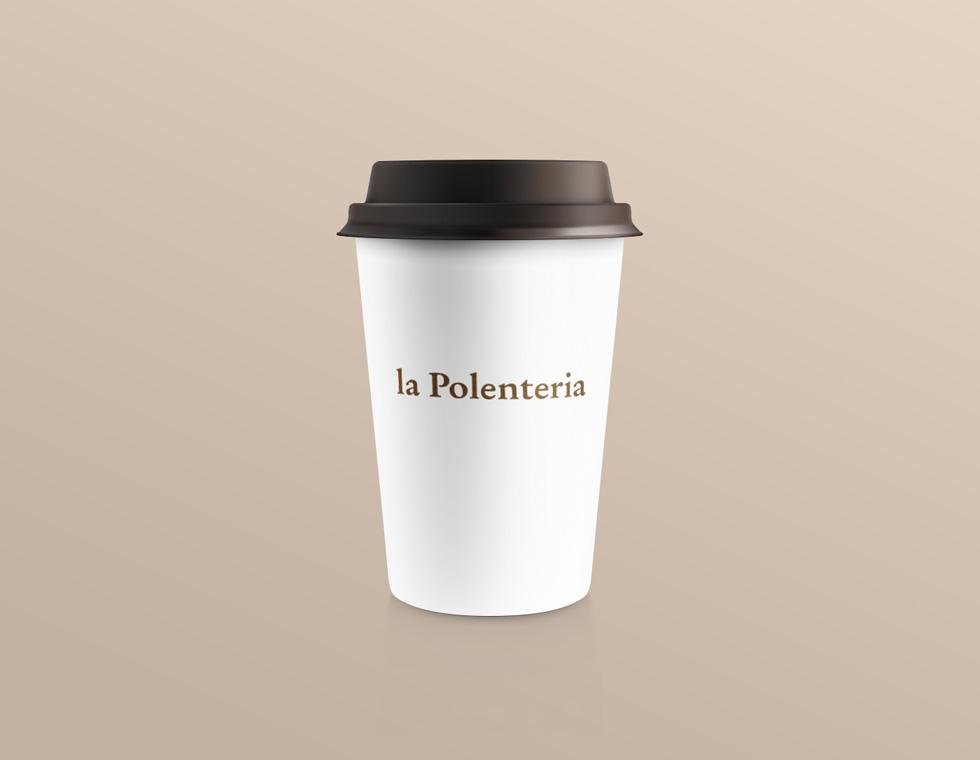 la Polenteria coffee cup